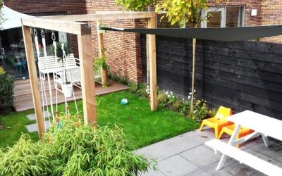 Kindvriendelijke groene tuin