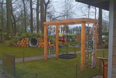 Fantastisch spelen in deze tuin!